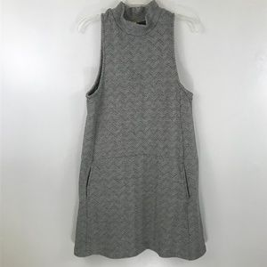 Free People Black and White Sweater Dress L